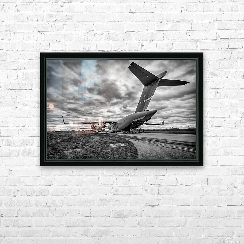 C 17 Globemaster HD Sublimation Metal print with Decorating Float Frame (BOX)