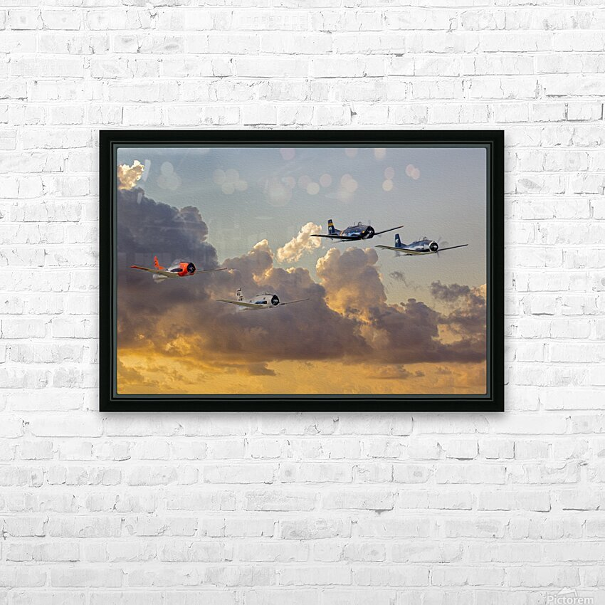 Four T 28 Trainers HD Sublimation Metal print with Decorating Float Frame (BOX)
