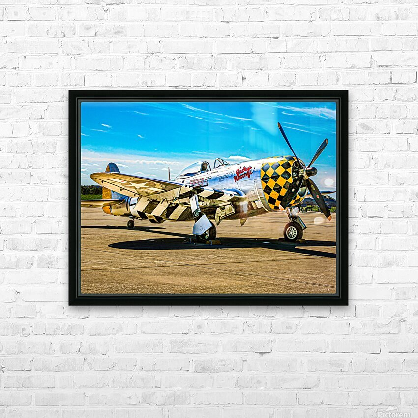 P 47D Thunderbolt HD Sublimation Metal print with Decorating Float Frame (BOX)