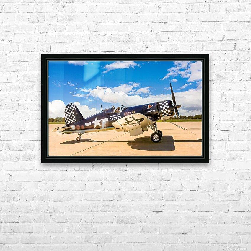 F4U Corsair HD Sublimation Metal print with Decorating Float Frame (BOX)