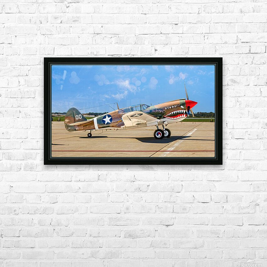 P 40 Warhawk HD Sublimation Metal print with Decorating Float Frame (BOX)