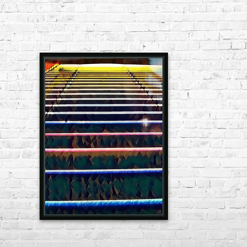 Window Blinds HD Sublimation Metal print with Decorating Float Frame (BOX)