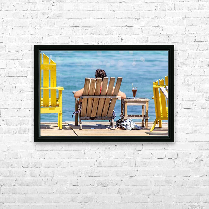 Ambergris Caye 4 HD Sublimation Metal print with Decorating Float Frame (BOX)