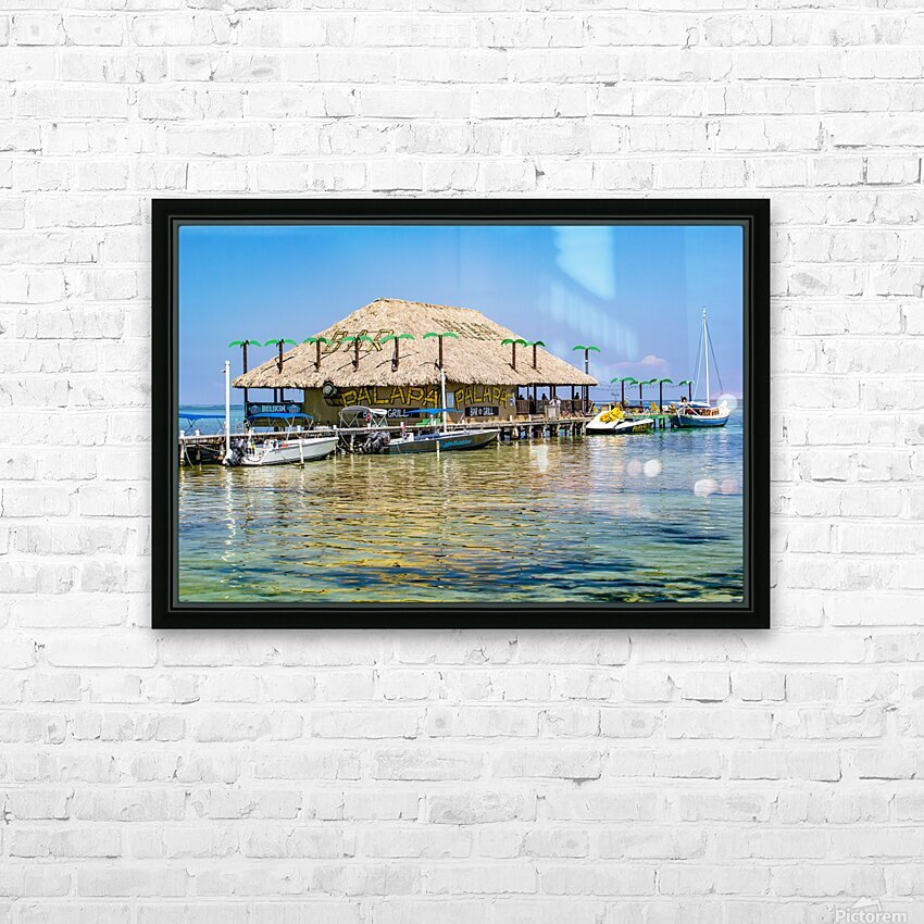 Ambergris Caye 3 HD Sublimation Metal print with Decorating Float Frame (BOX)