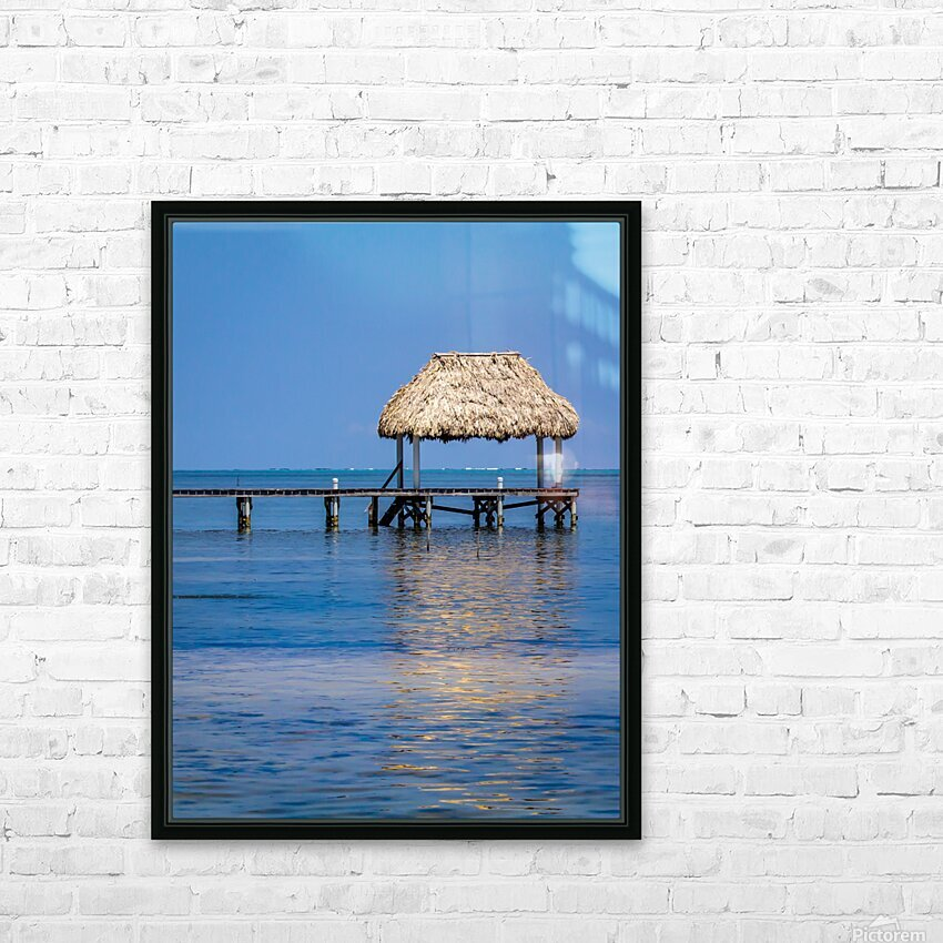 Ambergris Caye 2 HD Sublimation Metal print with Decorating Float Frame (BOX)