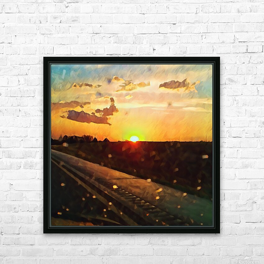 windshield raindrops two HD Sublimation Metal print with Decorating Float Frame (BOX)