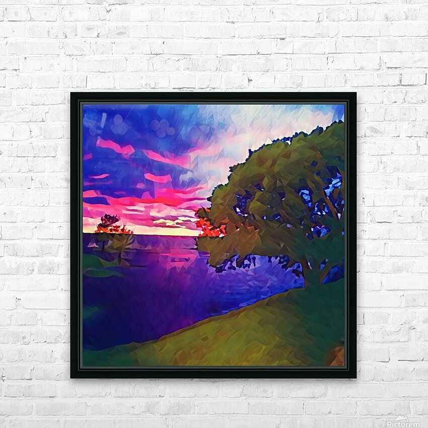 summer evening HD Sublimation Metal print with Decorating Float Frame (BOX)