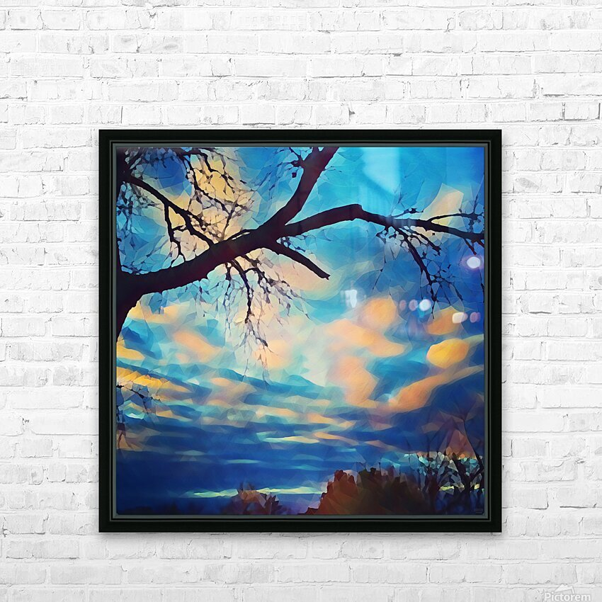 broken beauty HD Sublimation Metal print with Decorating Float Frame (BOX)