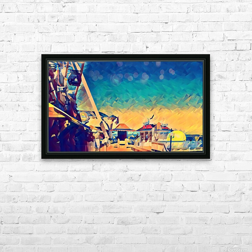 getting onto the great wheel HD Sublimation Metal print with Decorating Float Frame (BOX)