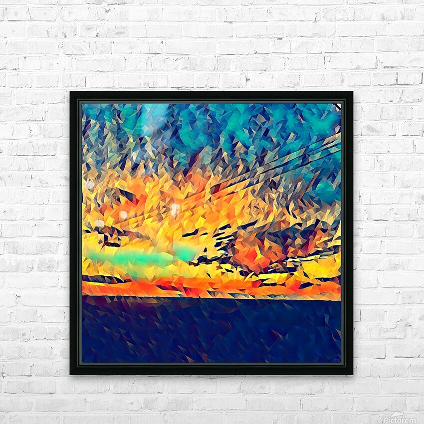 sky wires HD Sublimation Metal print with Decorating Float Frame (BOX)