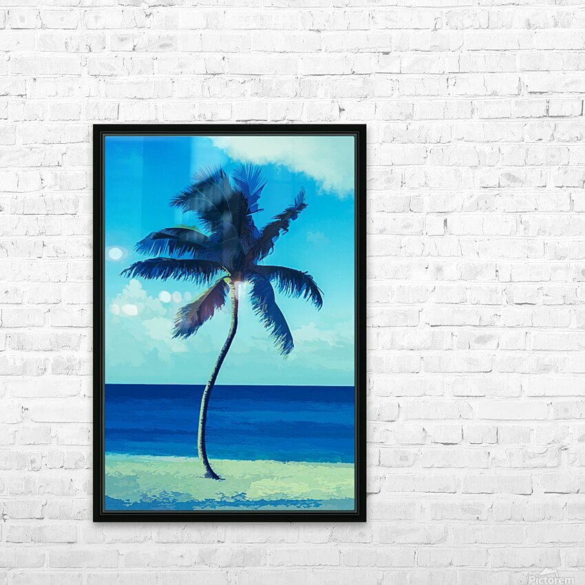 palm color 6 HD Sublimation Metal print with Decorating Float Frame (BOX)