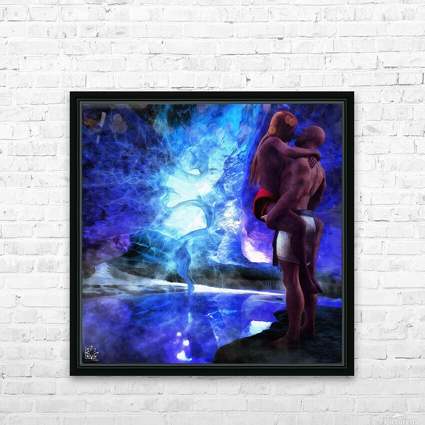 The Lovers Pool HD Sublimation Metal print with Decorating Float Frame (BOX)