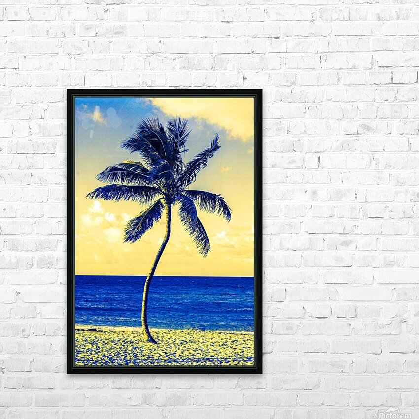 palm color 4 HD Sublimation Metal print with Decorating Float Frame (BOX)
