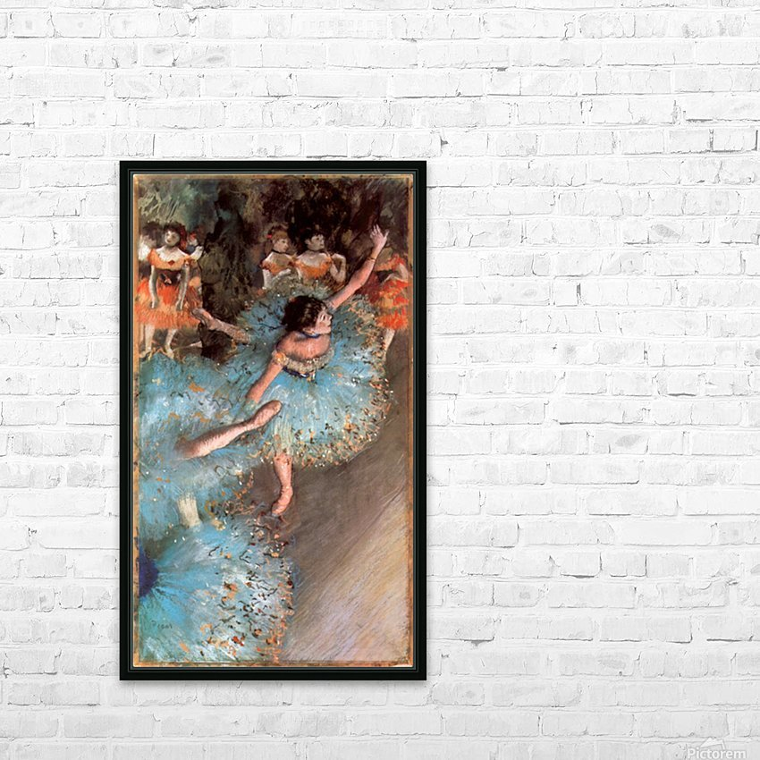 The Greens dancers by Degas HD Sublimation Metal print with Decorating Float Frame (BOX)