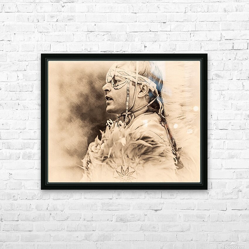 Native American 6 HD Sublimation Metal print with Decorating Float Frame (BOX)