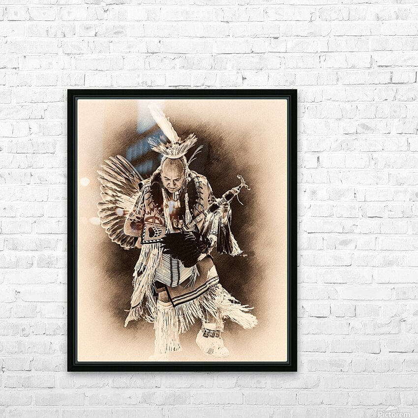 Native American 14 HD Sublimation Metal print with Decorating Float Frame (BOX)
