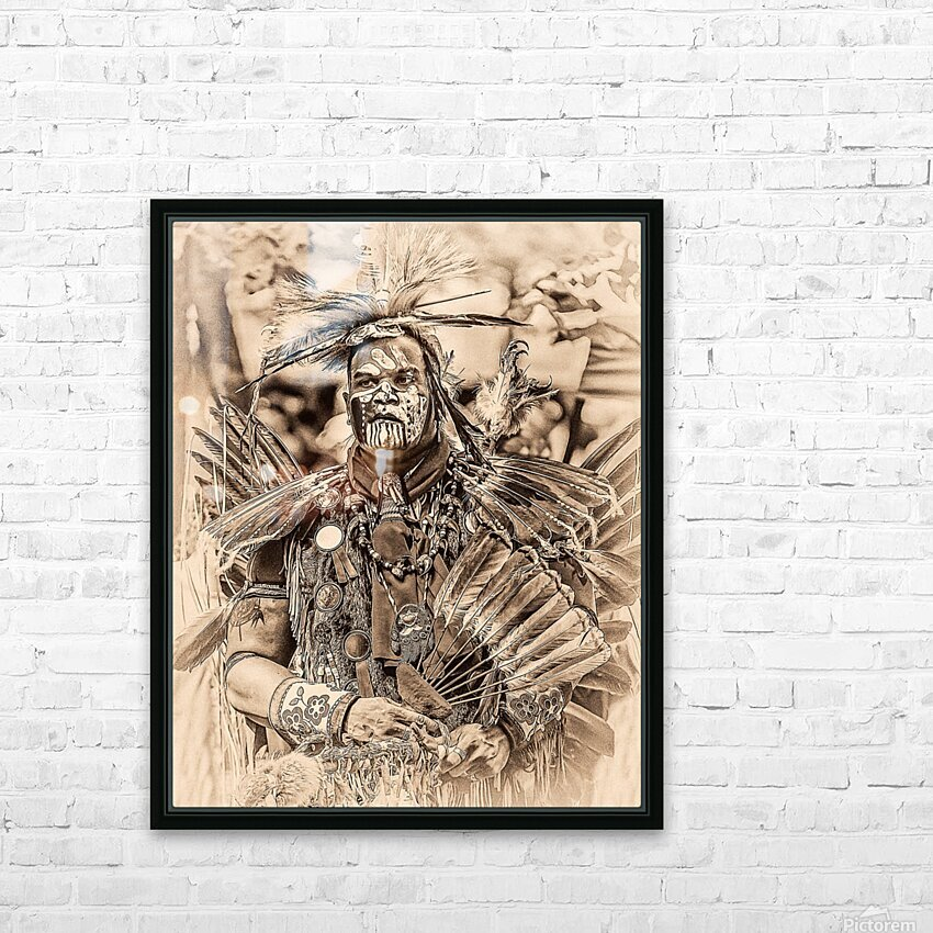 Native American 2 HD Sublimation Metal print with Decorating Float Frame (BOX)