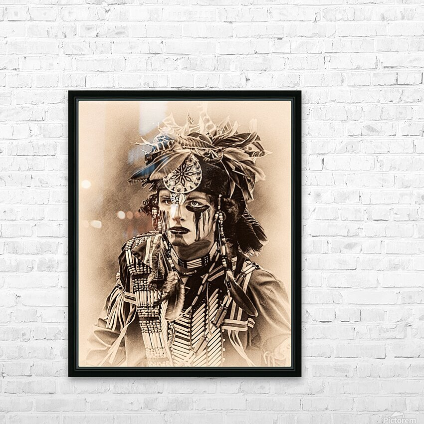 Native American 4 HD Sublimation Metal print with Decorating Float Frame (BOX)