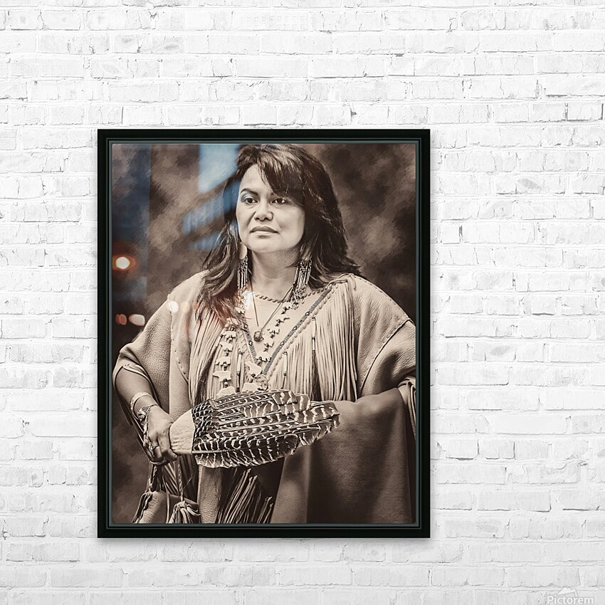 Native American 5 HD Sublimation Metal print with Decorating Float Frame (BOX)