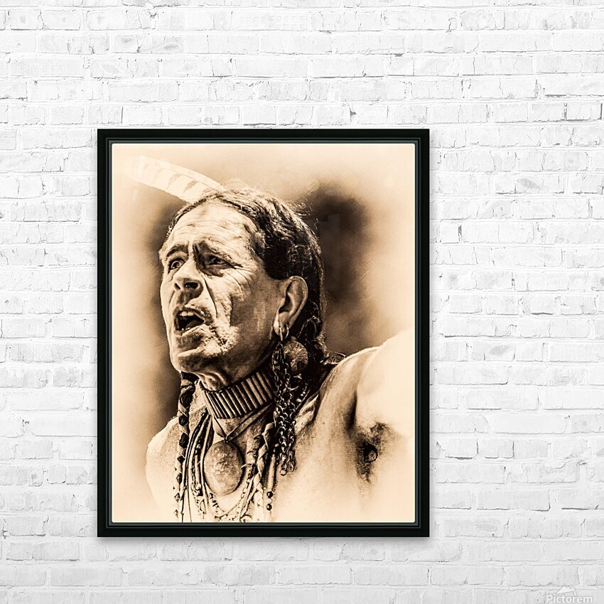 Native American 15 HD Sublimation Metal print with Decorating Float Frame (BOX)