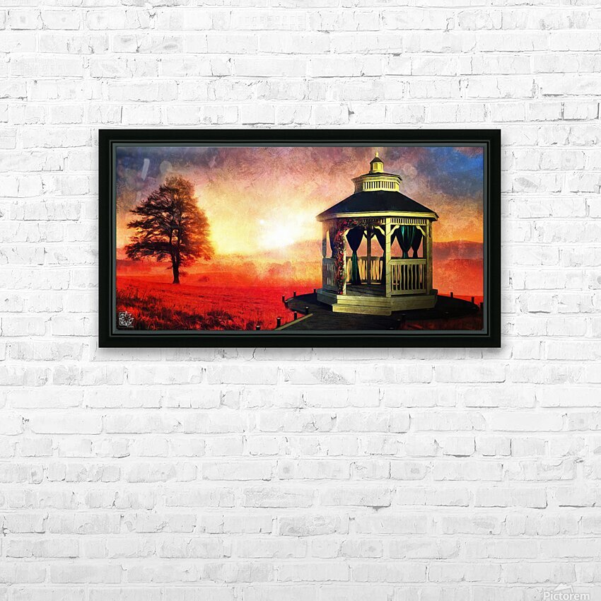 Backyard HD Sublimation Metal print with Decorating Float Frame (BOX)