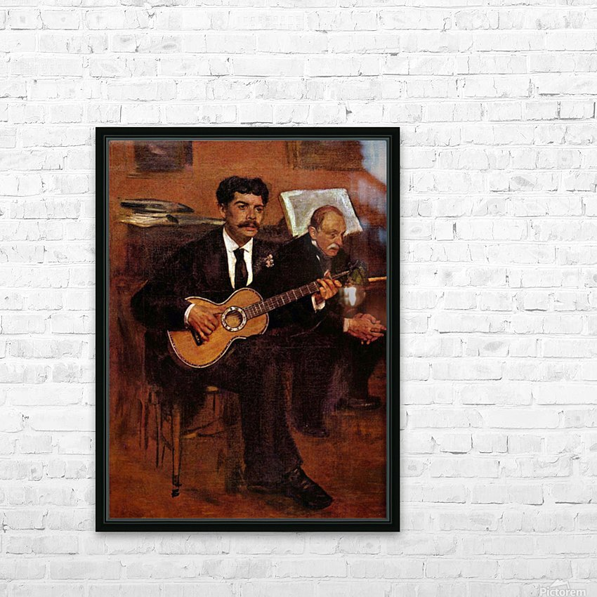 The guitarist Pagans and Monsieur Degas by Degas HD Sublimation Metal print with Decorating Float Frame (BOX)