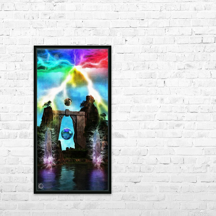 The Tesla Conduit HD Sublimation Metal print with Decorating Float Frame (BOX)
