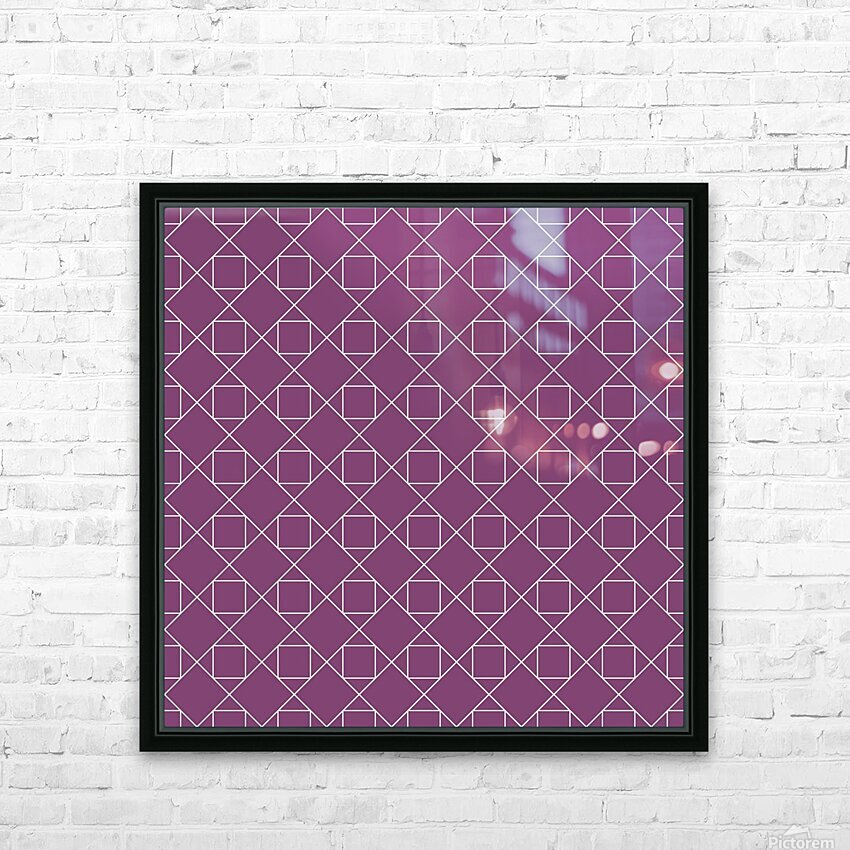 Light Purple Squares And Diamonds Pattern HD Sublimation Metal print with Decorating Float Frame (BOX)