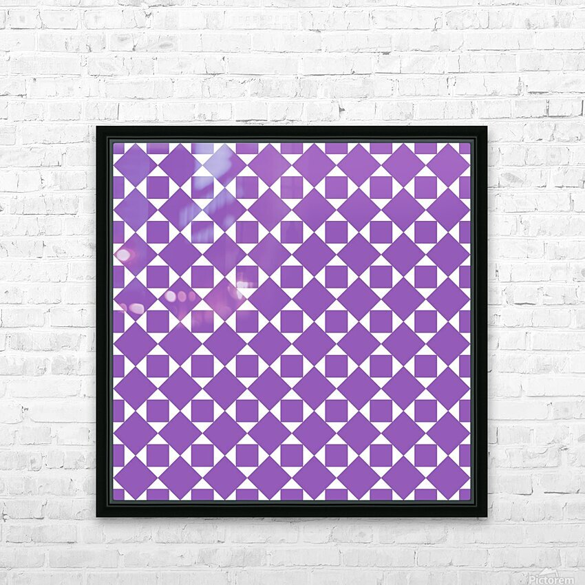 Purple Geometric Pattern HD Sublimation Metal print with Decorating Float Frame (BOX)