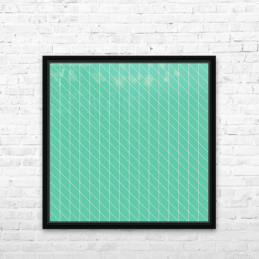 Aquamarine Checkers Pattern HD Sublimation Metal print with Decorating Float Frame (BOX)