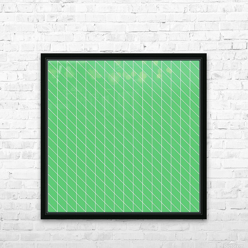 Green Color Checkers Pattern HD Sublimation Metal print with Decorating Float Frame (BOX)