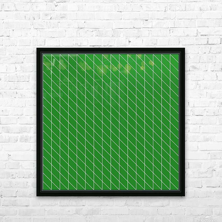 Green Checkers Pattern HD Sublimation Metal print with Decorating Float Frame (BOX)