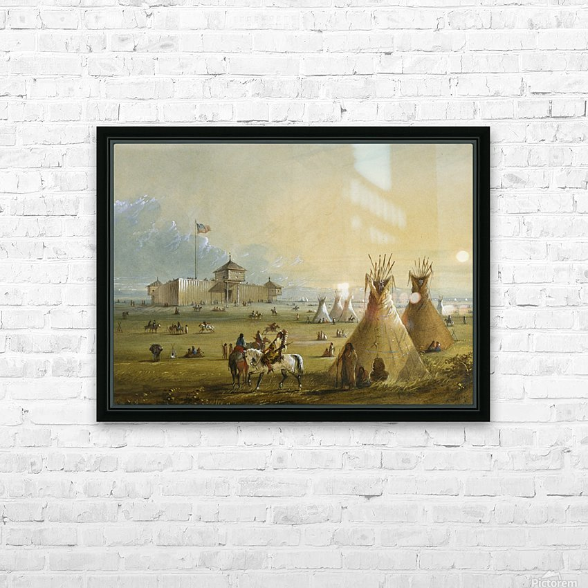 Fort Laramie HD Sublimation Metal print with Decorating Float Frame (BOX)