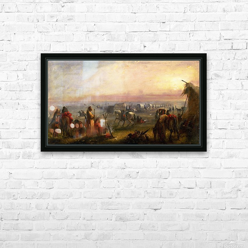 Departure of the Caravan at Sunrise HD Sublimation Metal print with Decorating Float Frame (BOX)
