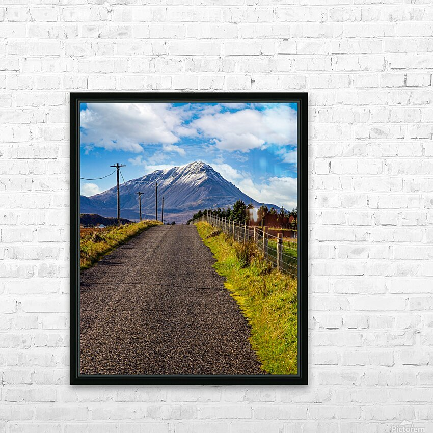 Errigal 1 HD Sublimation Metal print with Decorating Float Frame (BOX)
