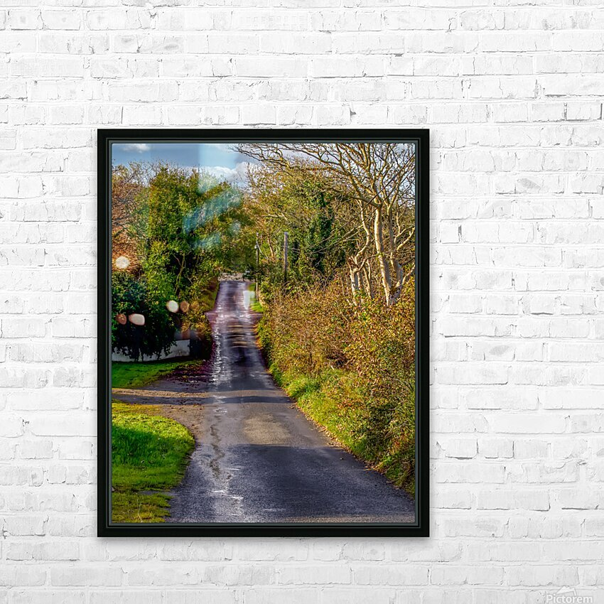 Donegal Byway HD Sublimation Metal print with Decorating Float Frame (BOX)
