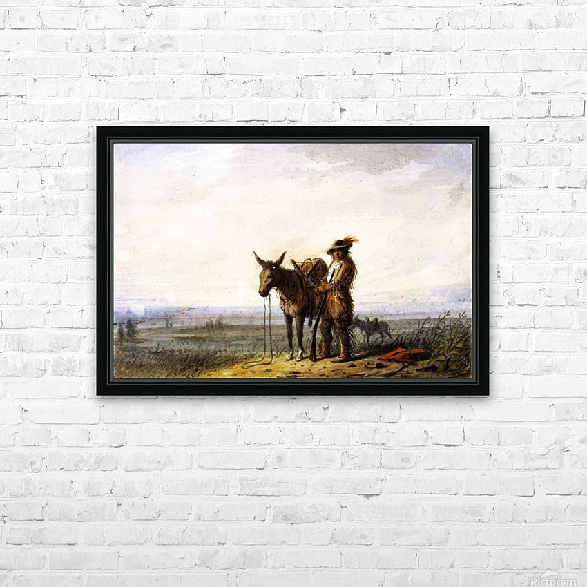 Old Bill Burrows a Free Trapper HD Sublimation Metal print with Decorating Float Frame (BOX)