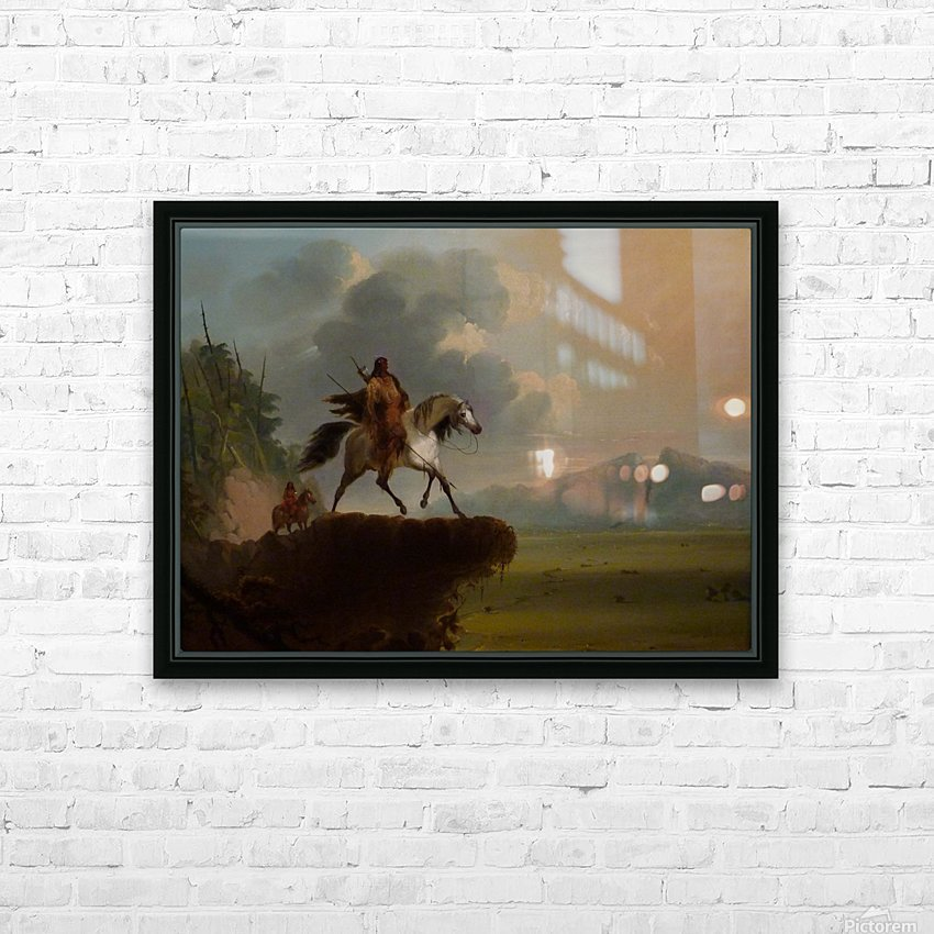 Wild West HD Sublimation Metal print with Decorating Float Frame (BOX)