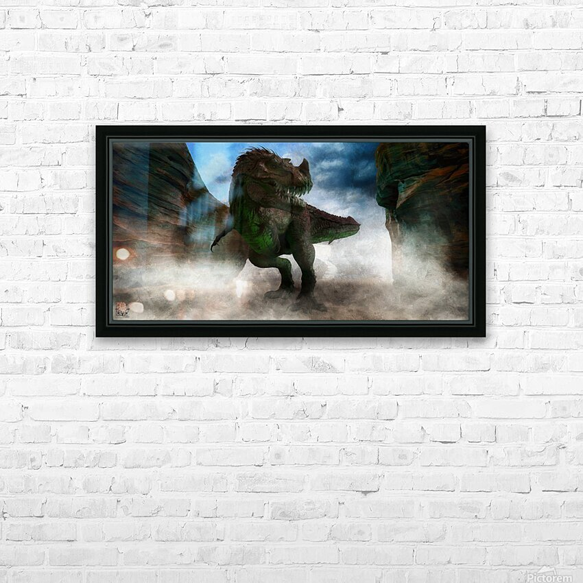 The Canyon HD Sublimation Metal print with Decorating Float Frame (BOX)