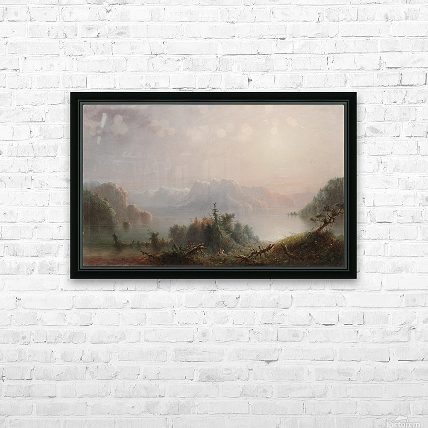 The Lake Her Lone Bosom Expands to the Sky HD Sublimation Metal print with Decorating Float Frame (BOX)