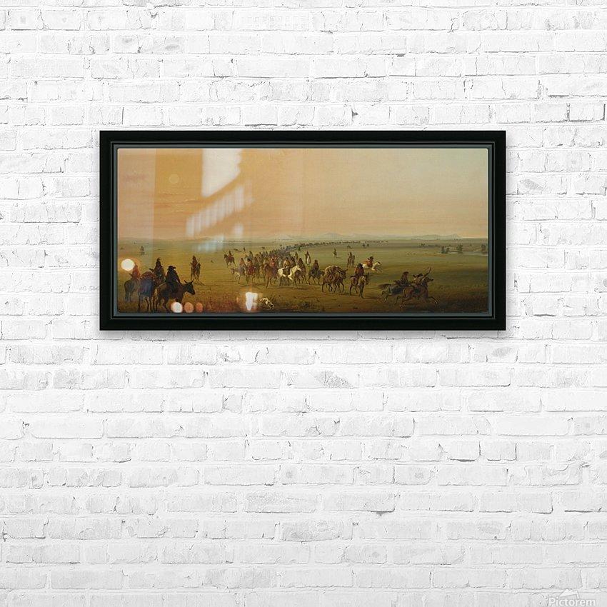 Sir William Drummond Caravan en Route HD Sublimation Metal print with Decorating Float Frame (BOX)