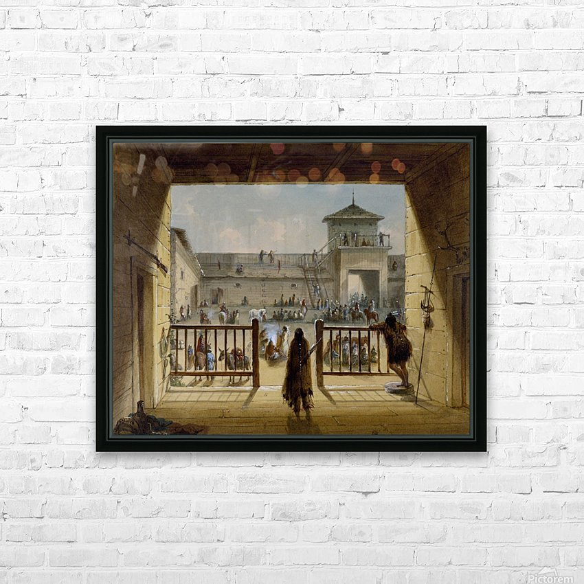 Interior of Fort Laramie HD Sublimation Metal print with Decorating Float Frame (BOX)