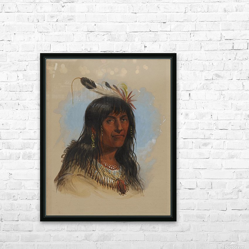 Big Bowl - Indian Chief HD Sublimation Metal print with Decorating Float Frame (BOX)