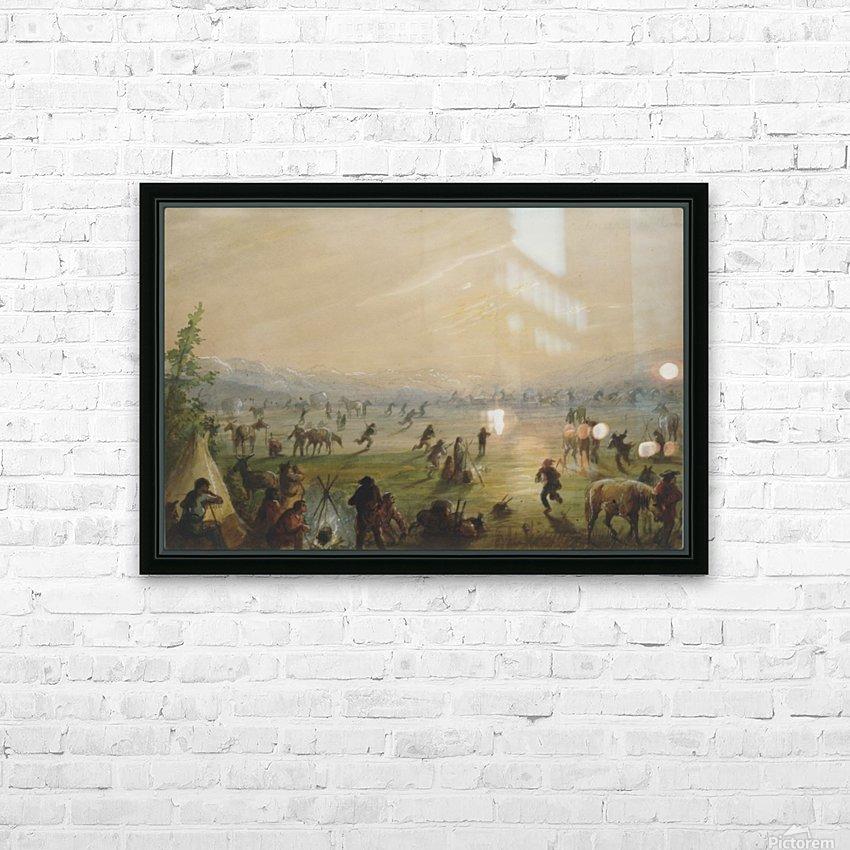 Attrapez des Chevaux HD Sublimation Metal print with Decorating Float Frame (BOX)