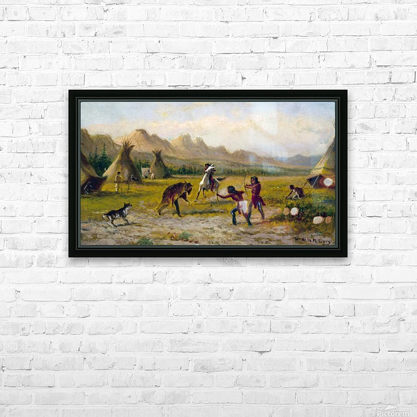 Indian village HD Sublimation Metal print with Decorating Float Frame (BOX)