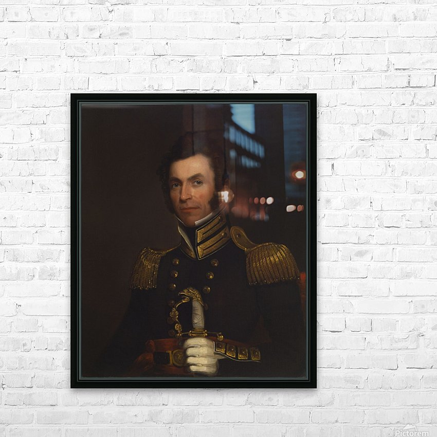 Portrait of Colonel Alexander Smith HD Sublimation Metal print with Decorating Float Frame (BOX)