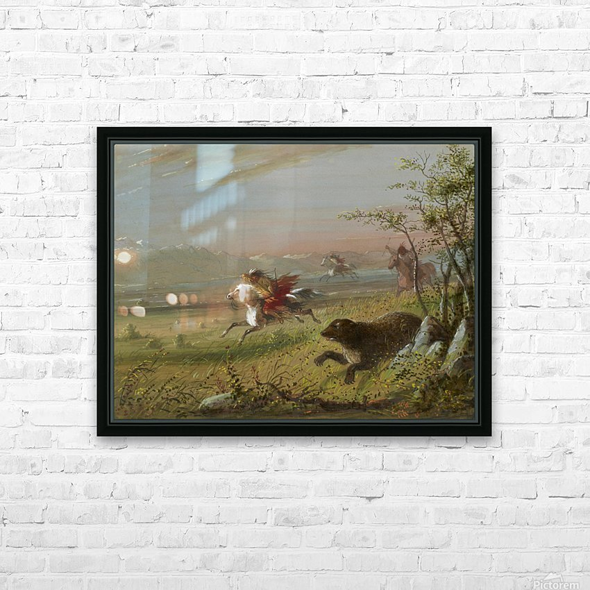 The Grizzly Bear HD Sublimation Metal print with Decorating Float Frame (BOX)