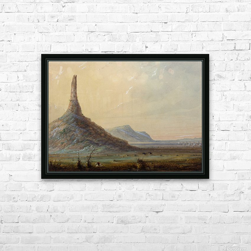 Chimney Rock HD Sublimation Metal print with Decorating Float Frame (BOX)