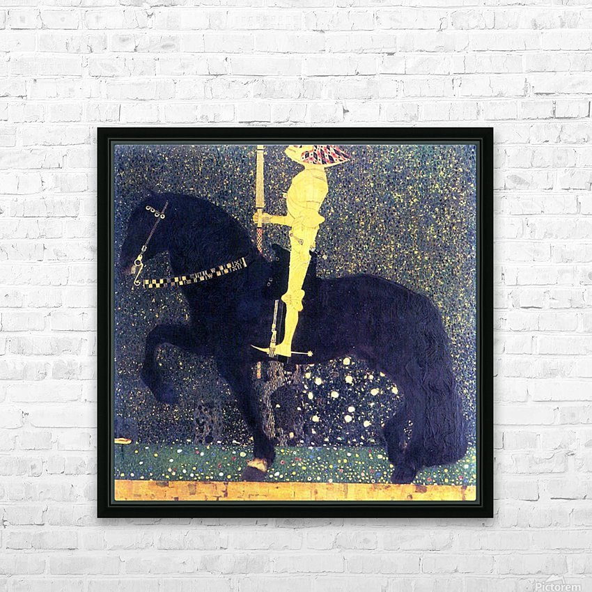 The life of a struggle (The Golden Knights) by Klimt HD Sublimation Metal print with Decorating Float Frame (BOX)