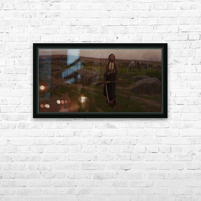 Indian woman at hunt HD Sublimation Metal print with Decorating Float Frame (BOX)